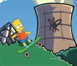 Игра Барт Симпсон на скейтборде
