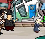 Бокс с дедом и бабкой