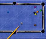 Игра голубой бильярд