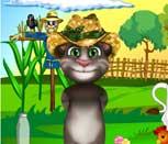 Игра говорящий кот Том фермер