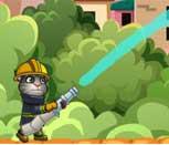 Игра говорящий кот Том пожарник