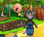 Игра говорящий кот Том садовник
