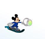 Игра Микки Маус на сноуборде