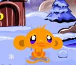 Игра Счастливая обезьянка 11: Северный полюс