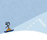 Игра Стикмен 2: Сноубордист