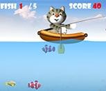 Игра кот рыбак