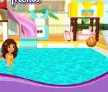 Игра Лего Френдс: Баскетбол в бассейне
