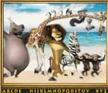 Игра Мадагаскар: Поиск алфавита