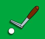 Мини гольф на лужайке