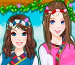 Игра одевалки сестёр