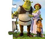 Игра пазл Шрека и его семьи