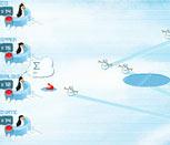 Пингвины из Мадагаскара против снеговиков