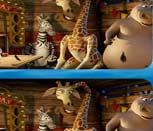 Игра поиск отличий в Мадагаскар 2