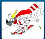 Игра раскраска Ну погоди: Волк лыжник