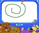 Игра рисовалка с Микки Маусом
