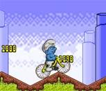 Смурфик на велосипеде