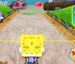 Игра Спанч Боб гонки в 3Д