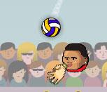Спортивные головы на волейболе