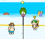 Волейбол двух подружек
