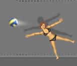 Игра волейбол куклами